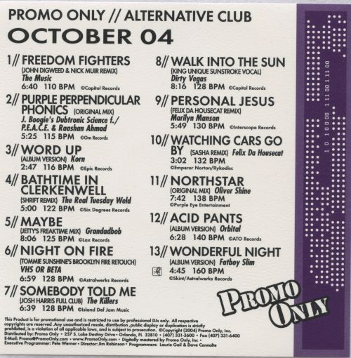Promo Only: Alternative Club (October 2004)
