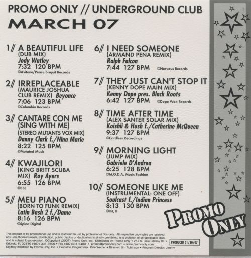 Promo Only: Underground Club (March 2007)