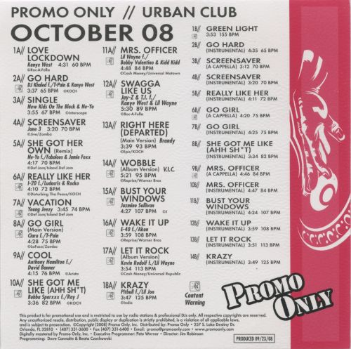 Promo Only: Urban Club (October 2008)