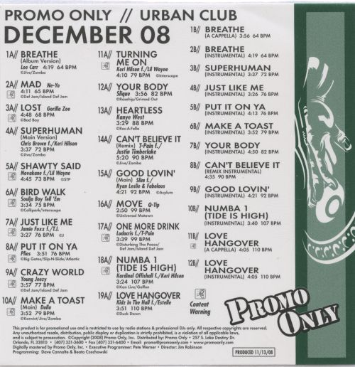 Promo Only: Urban Club (December 2008)