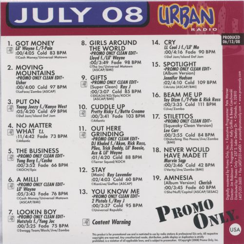 Promo Only: Urban Radio (July 2008)