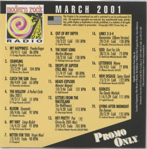 Promo Only: Modern Rock Radio (March 2001)