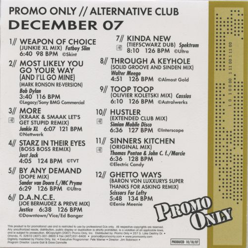 Promo Only: Alternative Club (December 2007)