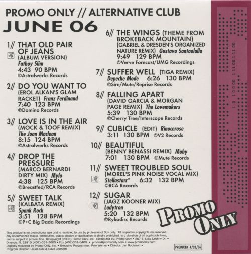 Promo Only: Alternative Club (June 2006)