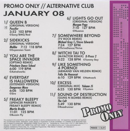 Promo Only: Alternative Club (January 2008)
