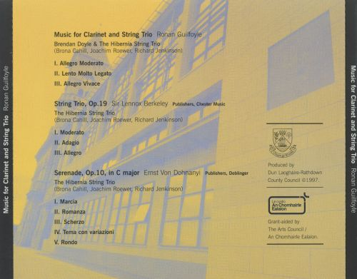 Music for Clarinet & String Trio