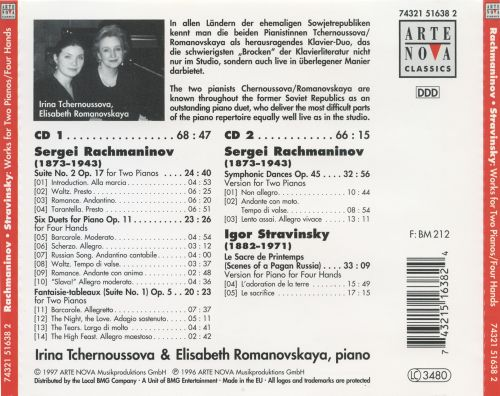 Rachmaninov, Stravinsky: Works for Two Pianos / Four Hands