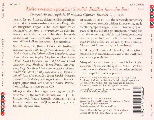 Musica Sveciae: Swedish Fiddlers of the Past, Vol. 26-28