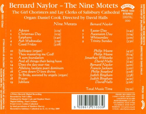 Bernard Naylor: The Nine Motets
