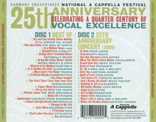 Harmony Sweepstakes: National A Cappella Festival 25th Anniversay