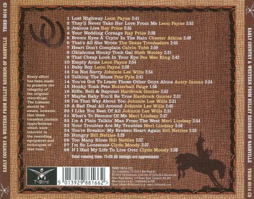Early Country and Western from Bullet Records, Nashville