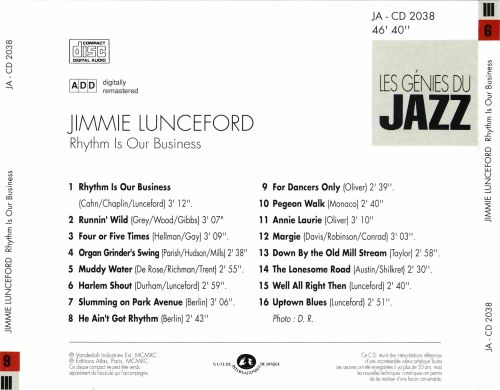Jazz Memorial: Les Génies du Jazz: Jimmi Lunceford - Rhythm Is Our Business