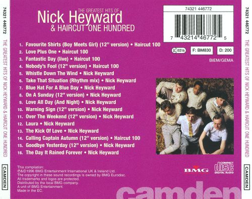 The Greatest Hits Of Nick Heyward Haircut One Hundred Nick