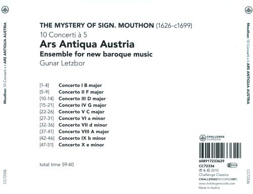 The Mystery of Signor Mouthon: 10 Concerti à 5
