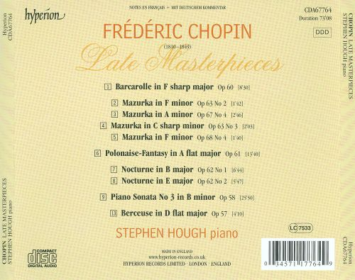 Chopin: Late Masterpieces