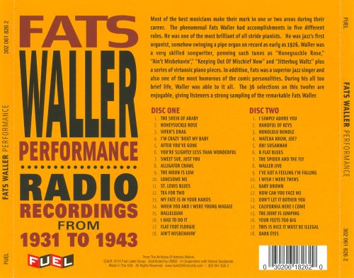 Performance: Radio Recordings from 1931 to 1943