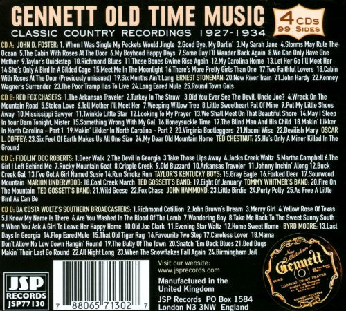 Gennett Old Time Music: Classic Country Recordings 1927-1934