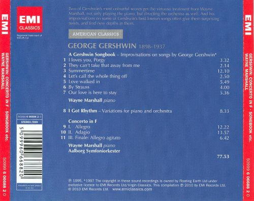 George Gershwin: Concerto in F; Variations on 'I Got Rhythm'; Song Improvisations