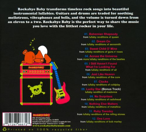 Rockabye Baby Lullaby Renditions Of Baby S Favorite Rock