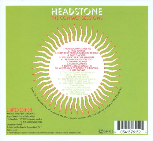 Headstone: The Contact Sessions