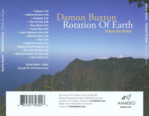 Rotation of Earth: Pieces for Guitar