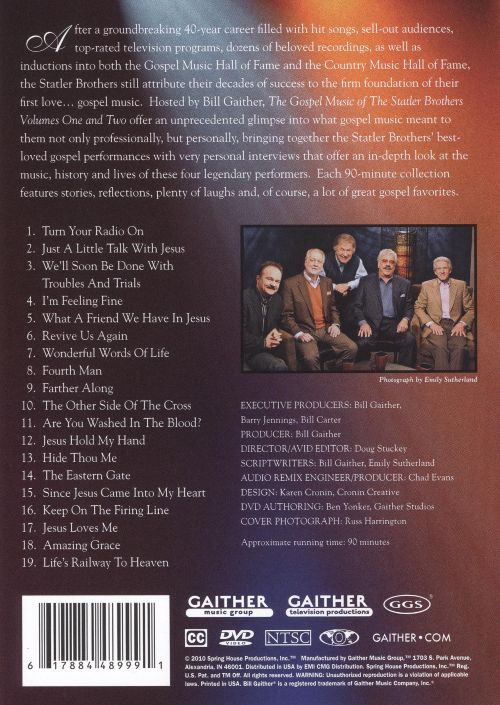 The Gospel Music of the Statler Brothers, Vol. 1 [DVD]