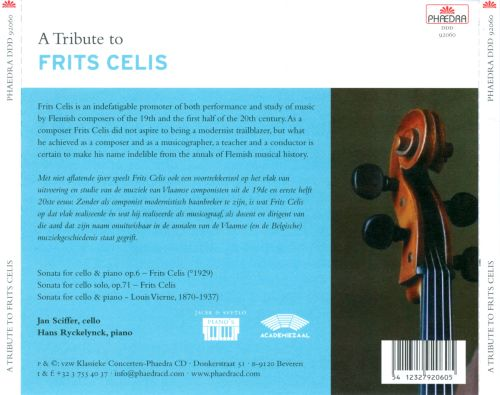 A Tribute to Frits Celis
