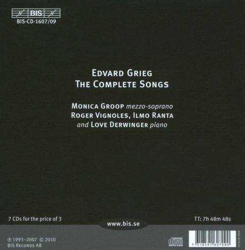 Edvard Grieg: The Complete Songs