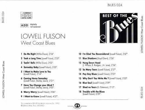 Best of the Blues: Lowell Fulson - West Coast Blues