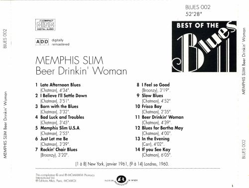 Best of the Blues: Memphis Slim - Beer Drinkin' Woman