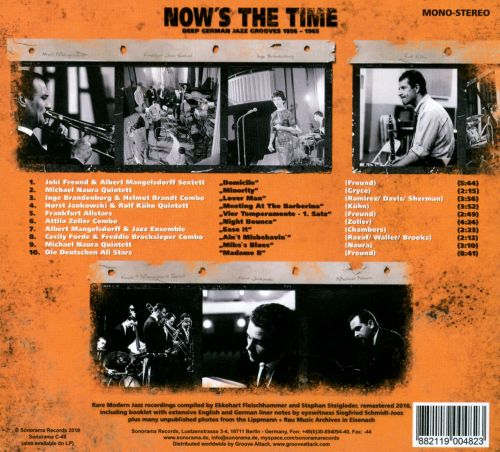 Now's The Time: Deep German Jazz Grooves 1956-1965