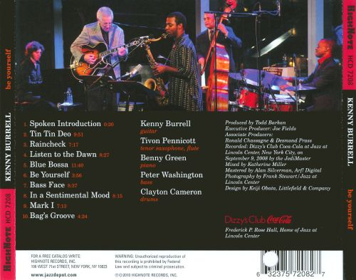 Be Yourself: Live at Dizzy's Club Coca-Cola