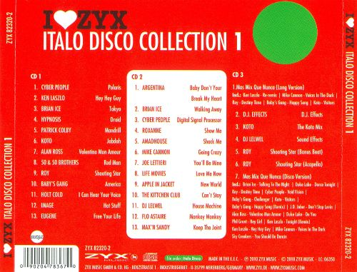 I Love ZYX: Italo Disco Collection 1