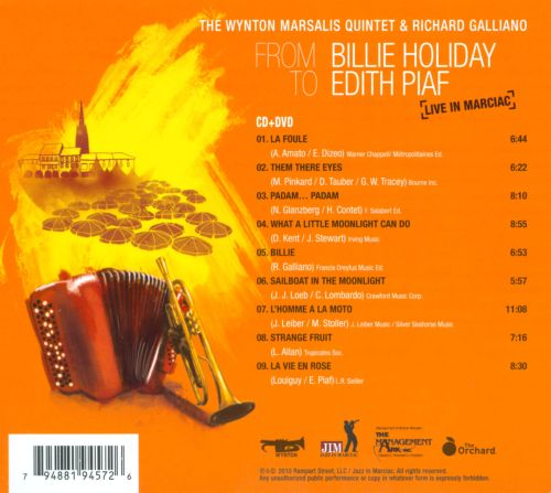 From Billie Holiday to Edith Piaf: Live in Marciac