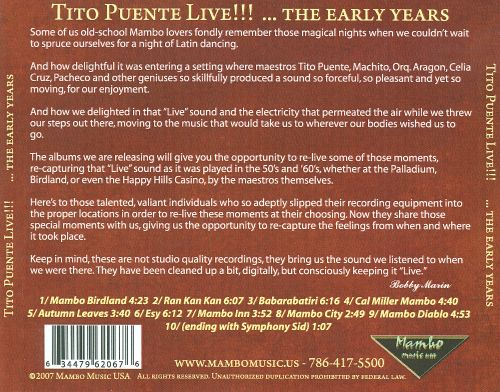 Tito Puente Live!...the Early Years