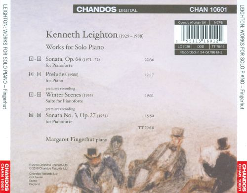 Kenneth Leighton: Piano Works
