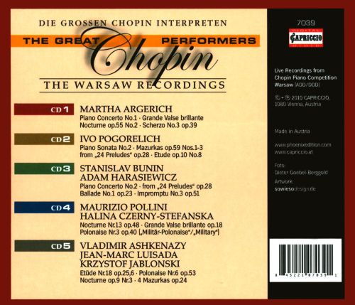 Great Chopin Performers: The Warsaw Recordings