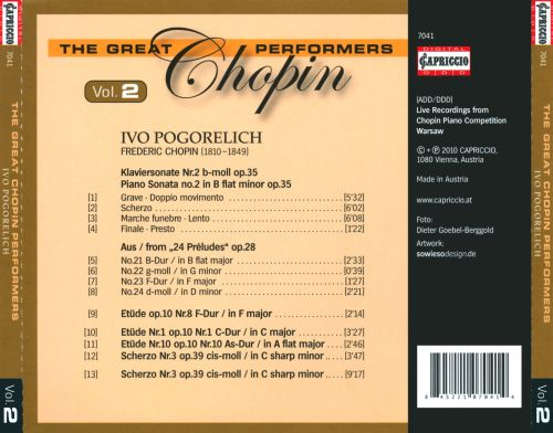 Great Chopin Performers, Vol. 2: Ivo Pogorelich