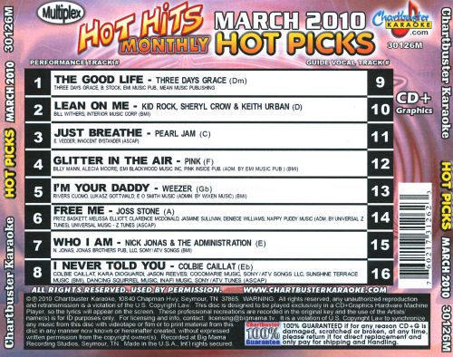 Chartbuster Karaoke: Hot Picks - March 2010