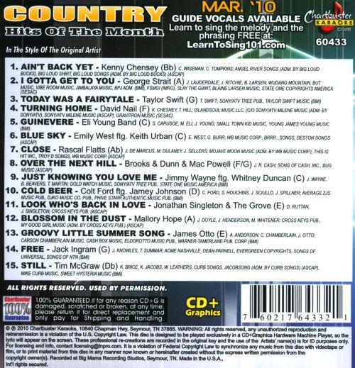 Karaoke: Country Hits of the Month - March 2010