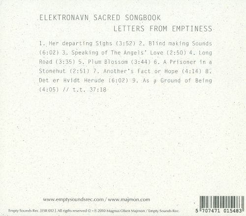 Elektronavn Sacred Songbook: Letters From Emptiness
