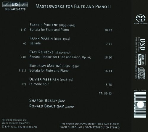 Masterworks for Flute and Piano, Vol. 2