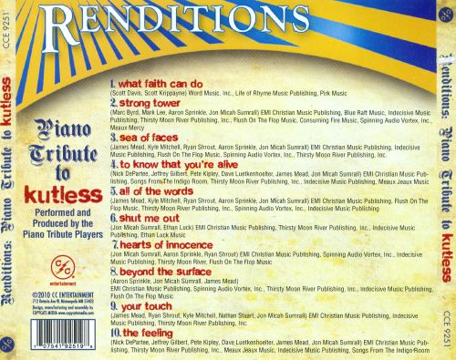 Renditons: Kutless Piano Tribute