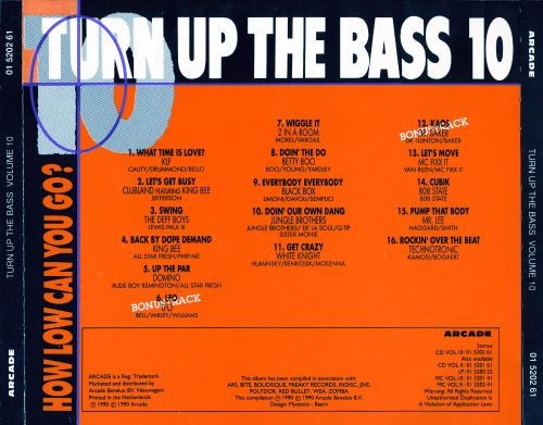 Turn Up the Bass, Vol. 10