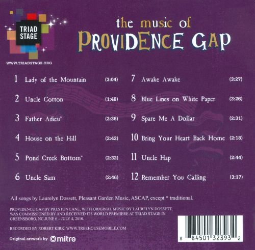 The Music of Providence Gap