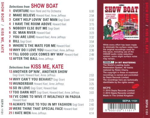 Selections From Show Boat & Kiss Me Kate