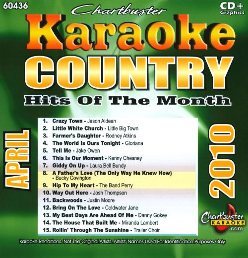 Chartbuster Karaoke: Country Hits of the Month April 2010