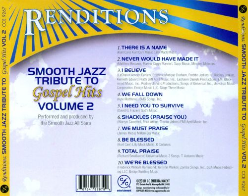 Renditions: Smooth Jazz Tribute To Gospel Hits, Vol. 2