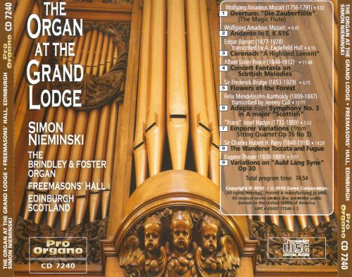 The Organ at the Grand Lodge
