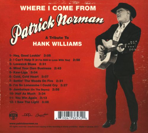 Where I Come From: A Tribute to Hank Williams